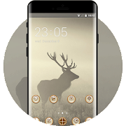 Theme for deer shadow wallpaper icon