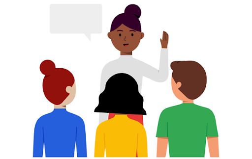Engage your audience illustration