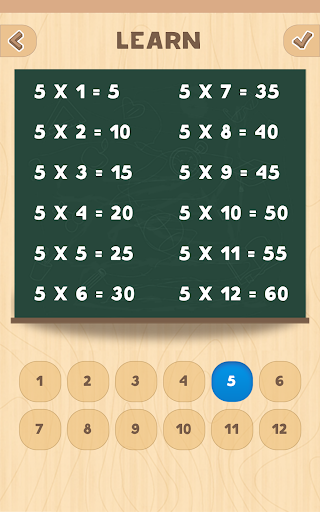 Multiplication table for PC
