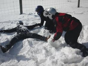 Photo: Rafa y sus bolitas de nieve