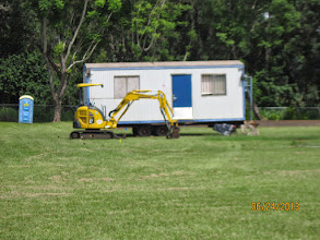 Photo: This was the first indication that there would be a construction project here on our campus.