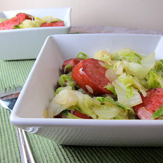 Kielbasa & Cabbage Stir Fry.