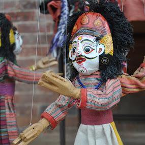 Dancing handicraft idol... by Pramesh Pokharel - News & Events World Events