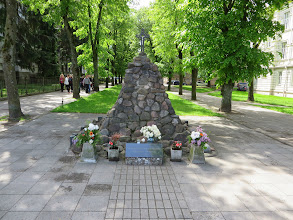 Photo: Monument to the Lithuanian genocide victims