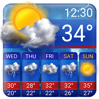 Free weather forecast app& widget ⛈  ⛈