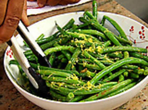 Green Beans & Garlic W/ Lemon Zest