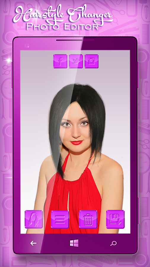 Hairstyle Changer Photo Editor- screenshot