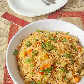 Vermicelli (Semiya) Vegetable Biryani.