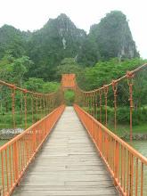 Photo: Bridge over the Nam Song river - Laos
