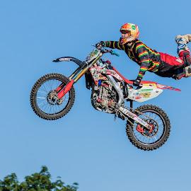Motorcross Jumping by Carl Albro - Sports & Fitness Motorsports ( jumping, motorbike, motorcross )