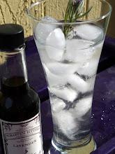 Photo: The Lavendula intoxicatea cocktail:  Gin, DRY lavender soda, Scrappy's Lavender Bitters, lemon juice, lavender sprig.