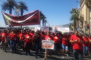 About 80 community healthcare workers marched from Keizersgracht to the provincial legislature on Thursday demanding to be integrated to the public service by the Department of Health.