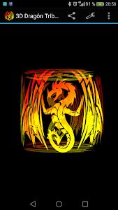 3D Tribal Dragon Tattoo LWP screenshot 0