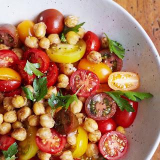 Tomato Chickpea Salad.