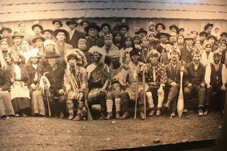Photo: An old photo of the Tulalip tribe from about 100 years ago.