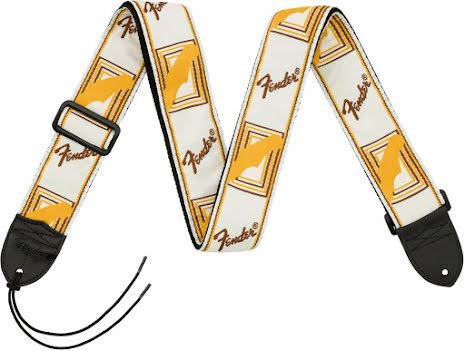 Fender Monogrammed Strap White-Brown-Yellow
