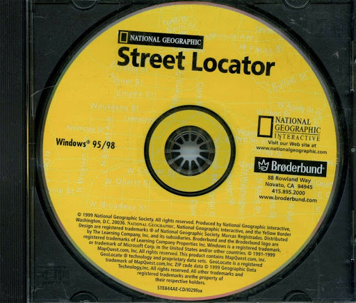 Computer software:National Geographic Street Locator