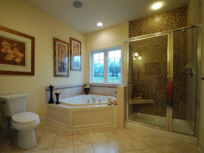 Photo: The master bathroom in our LEIGHTON model home at Brookhaven Estates in Clifton Park, New York