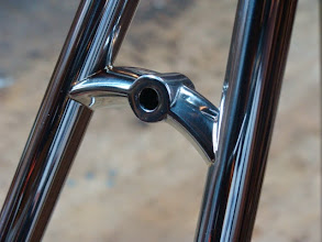 Photo: A tight fitup on this brake bridge for super small silver fillets.