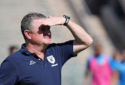 Gavin Hunt, Coach of Bidvest Wits during the Absa Premiership 2018/19 match between Mamelodi Sundowns and Bidvest Wits at Lucas Moripe Stadium, Atteridgeville on 07 October 2018.