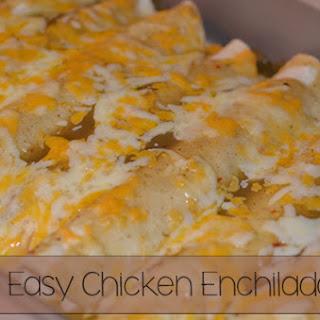 Easy Chicken Enchiladas.