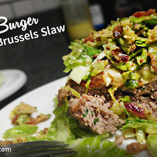 Brat Burger with Brussels Slaw