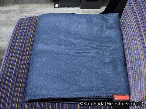 函館バス「高速はこだて号」 T3267 毛布