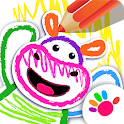 Bini DRAW & DANCE! Kids Coloring Apps for Toddler! icon