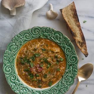 Oyster Mushroom Lentil Soup