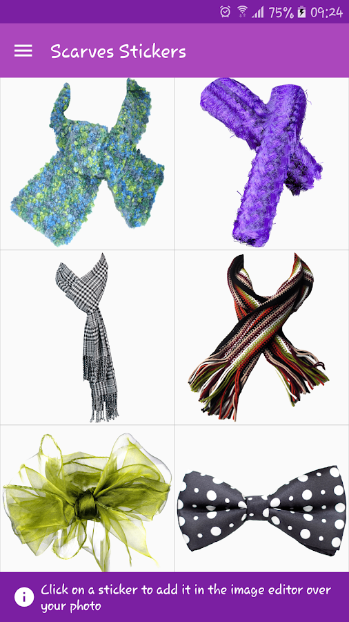 Scarves Stickers- screenshot