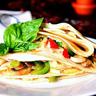 Breakfast Crepes Filled with Cheese and Veggies Recipe