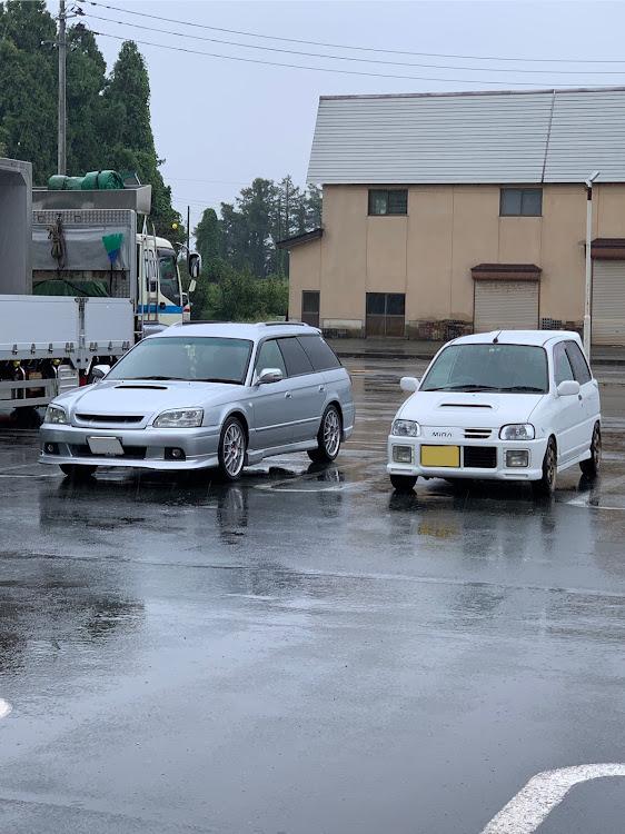 レガシィツーリングワゴン BH5の雨だけど,オフ会に関するカスタム&メンテナンスの投稿画像4枚目