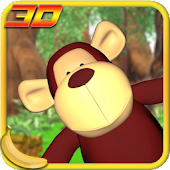 Jungle Monkey Fruit 3D Games