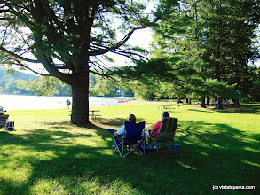 Photo: A couple relaxes while admiring the view at Lake St. Catherine State Park by Belinda Lafountain