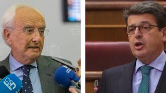 El subdelegado, Manuel de la Fuente, y el diputado del PP, Juan José Matarí.