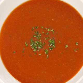 Creamy Cold Red Pepper Soup.