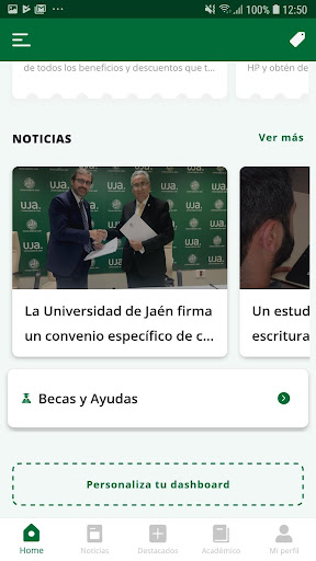 La App oficial de la Universidad de Jaén screenshot 3