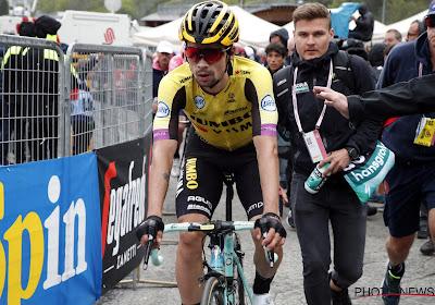 Primoz Roglic in 15e Giro-etappe genekt door... sanitaire stop van zijn ploegleiders