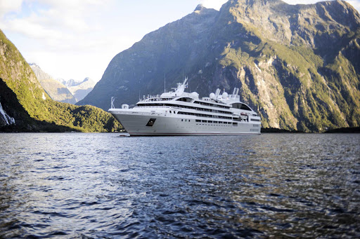 Sail through the dramatic fjords of New Zealand on your next Ponant cruise.