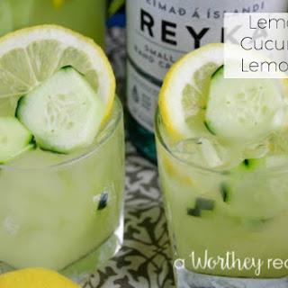 Lemon & Cucumber Lemonade.