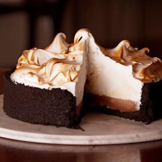 Chocolate Cream Pie with Swiss Meringue.