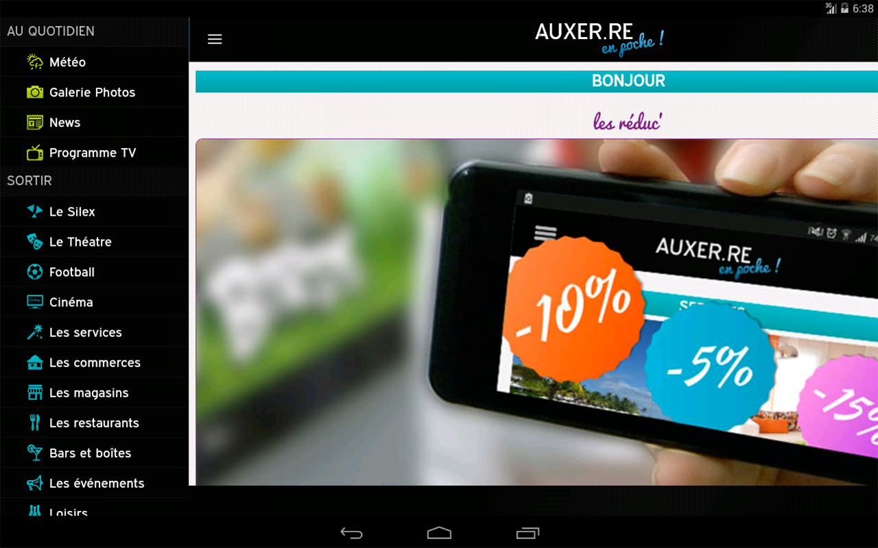 Auxer.re en poche- screenshot