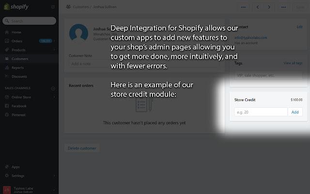 Deep Integration for Shopify