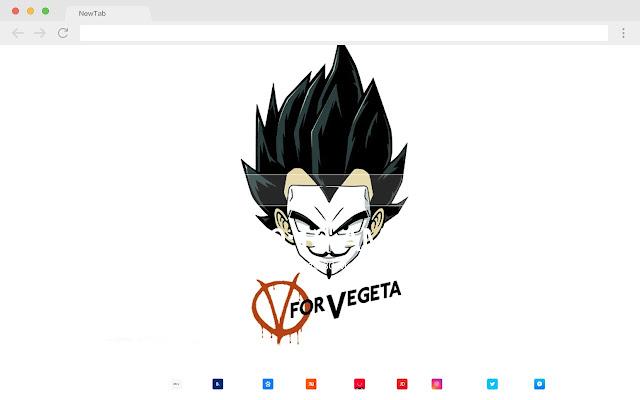 Vegeta New Tab HD Wallpapers Pop Anime Theme