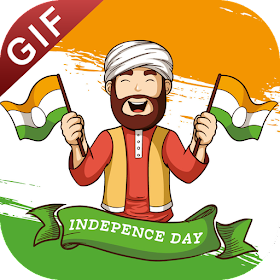 Independence Day GIF : 15 August Stickers Pack