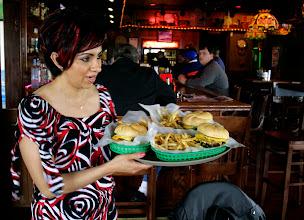 Photo: Pierwsze hamburgery...