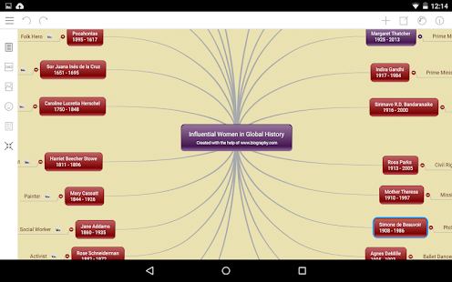 Mindomo (mind mapping) Screenshot
