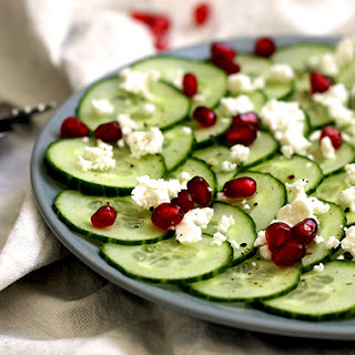 Cucumber, Feta & Pomegranate Salad (V) Recipe