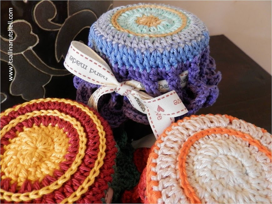 mandala crochet jar topper