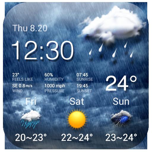Rainy Storm Tracker Widget